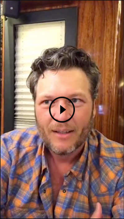 Blake Shelton - Video to Fans